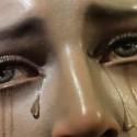 Detalhe das lágrimas de Maria