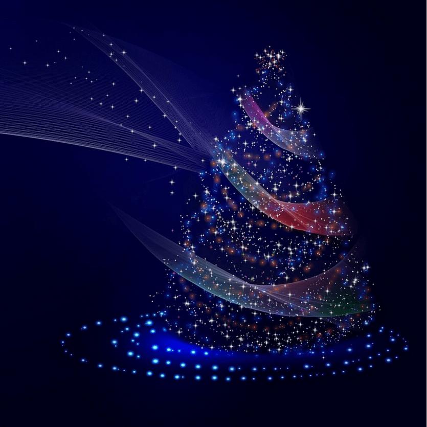 Árvore de Natal iluminada