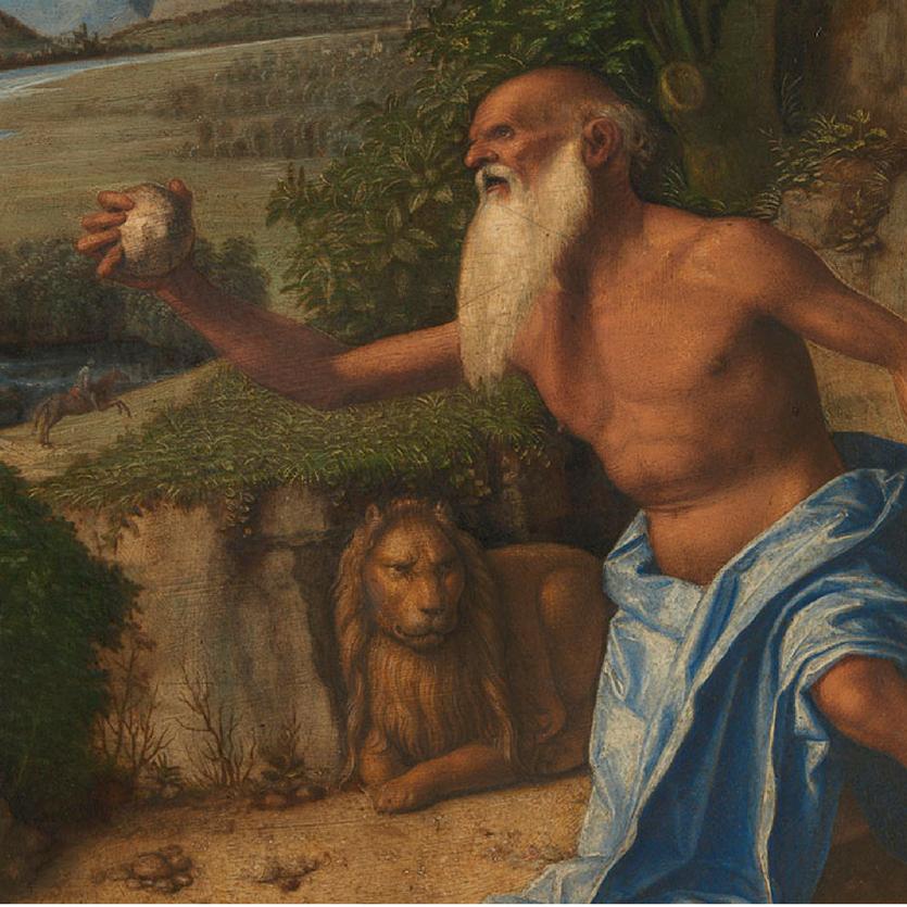 Pintura de Santo Antão no deserto