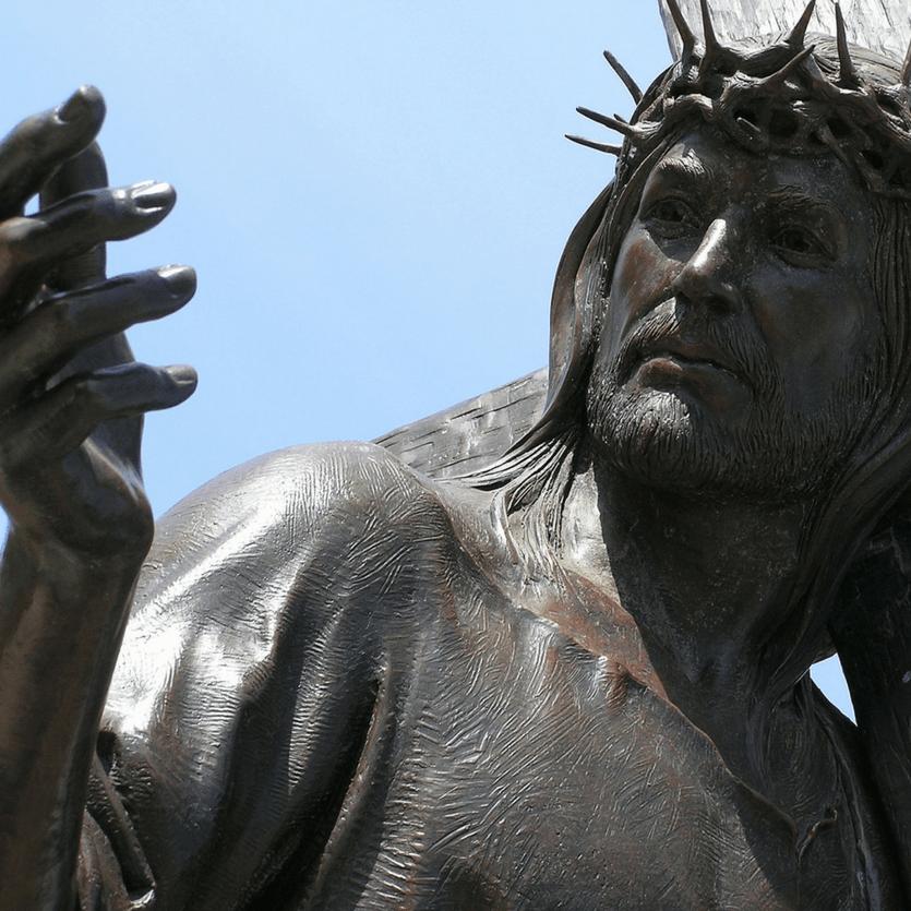 Imagem de Cristo na Via Sacra