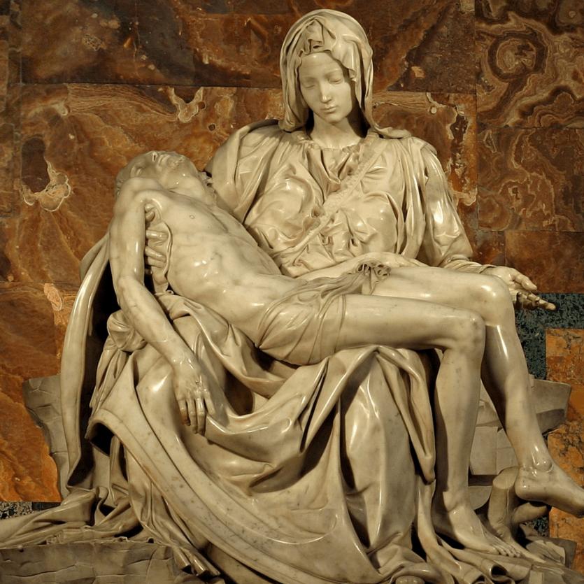 Escultura da Pietá de Michelangelo