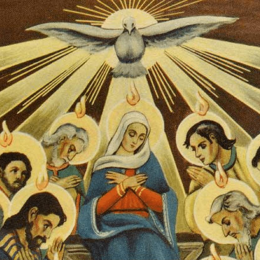 ícone de Maria em Pentecostes
