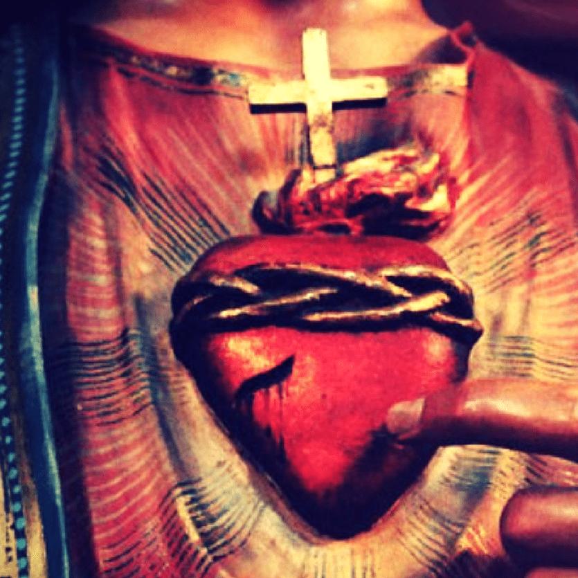 Detalhe do Sagrado Coração de Jesus