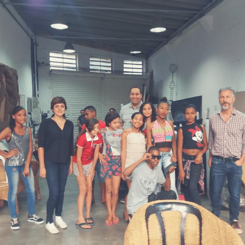 jovens que participaram do workshop