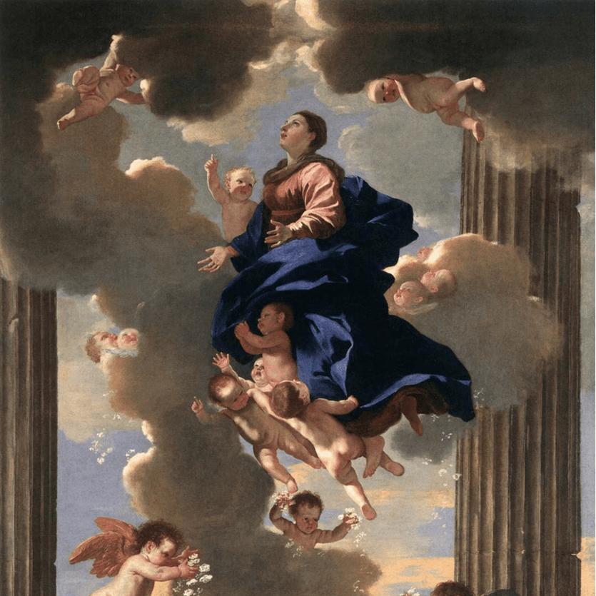 Pintura de Maria Assunta aos Céu