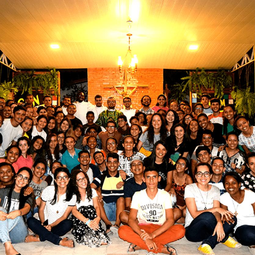 Jovens que participaram do congresso no Ceará