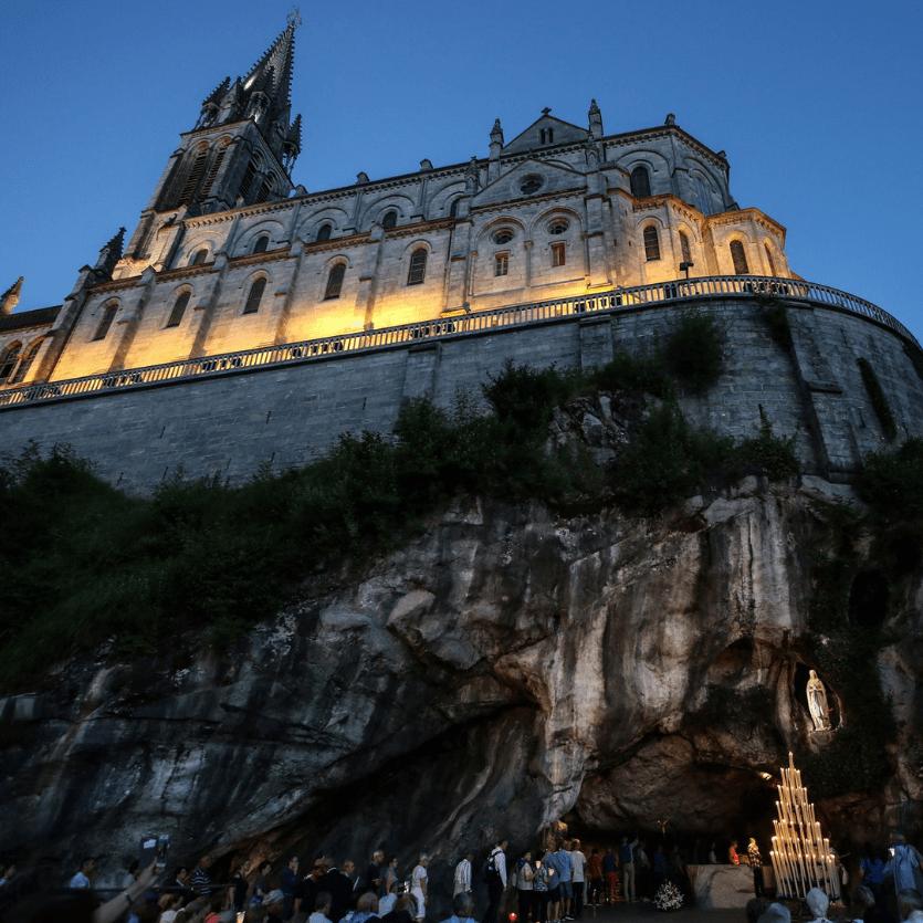 Imagem da Basílica de Lourdes-França