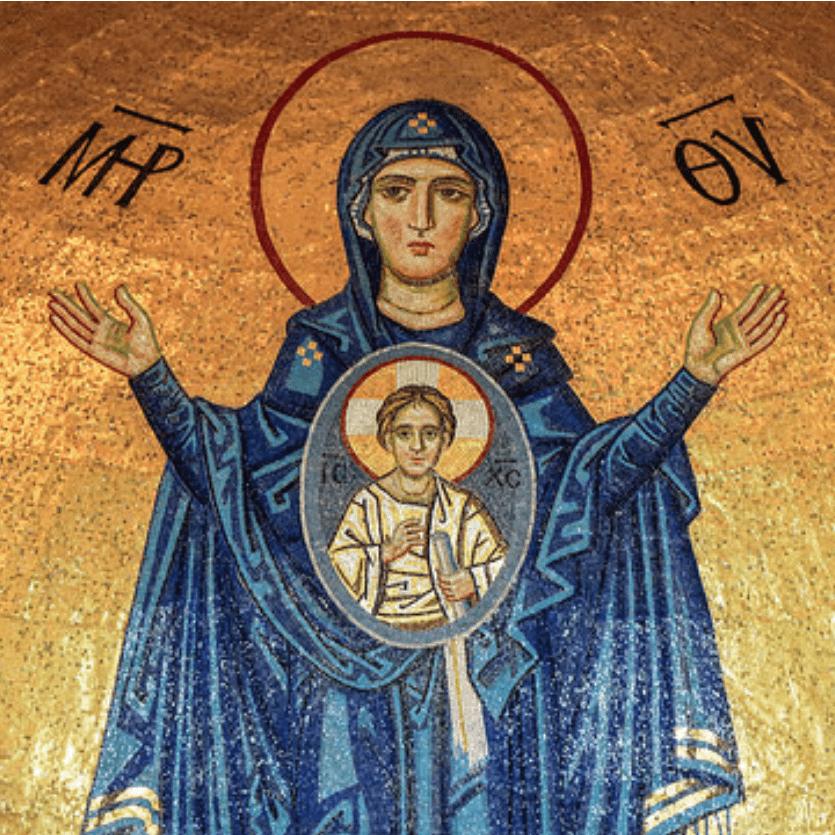 Ícone de Maria com o Menino Jesus