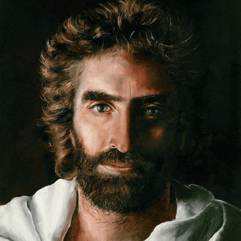 Pintura do rosto de Jesus