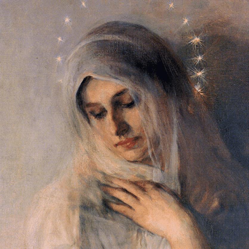 Afresco da Virgem Maria