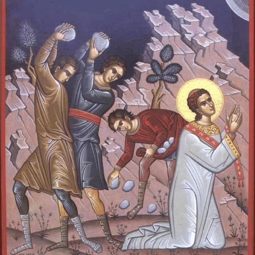 ícone de Santo Estevão sendo apedrejado