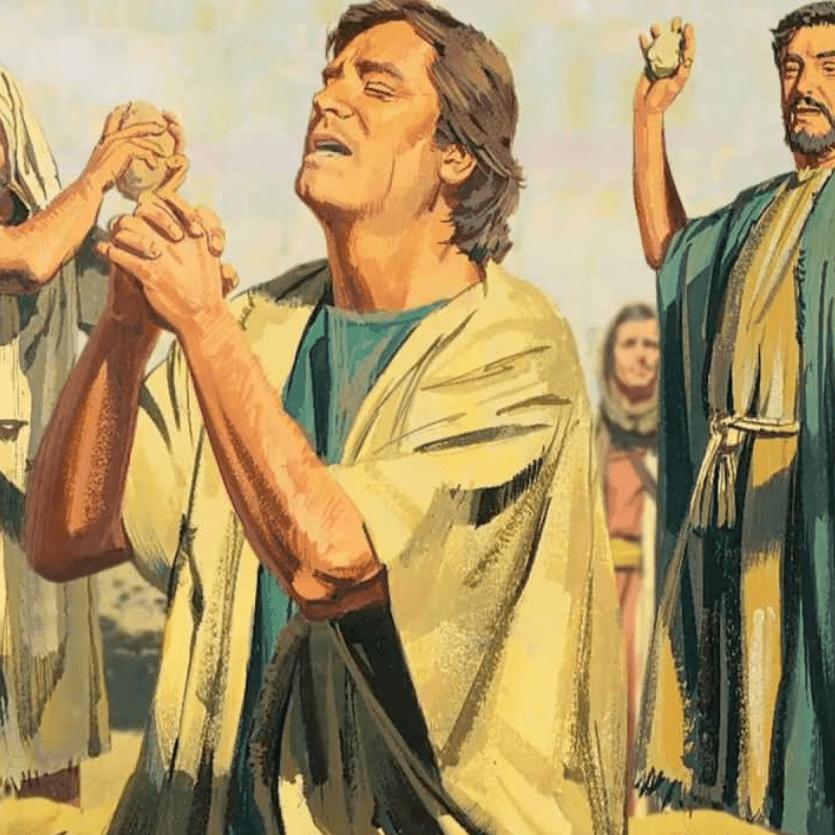 Ilustração do apedrejamento de Santo Estevão