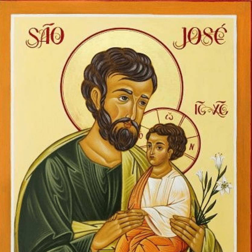 Ícone de São José com o menino Jesus