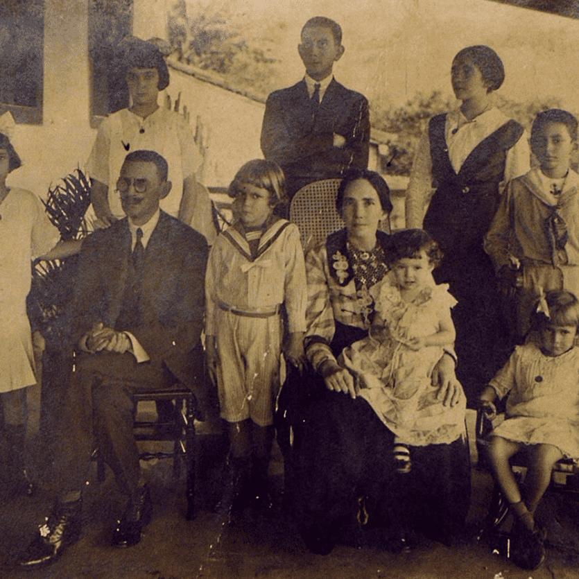 Foto antiga da família Albuquerque