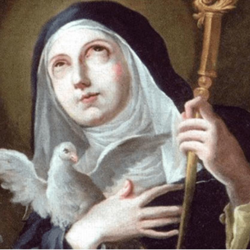 Pintura representando Santa Escolástica