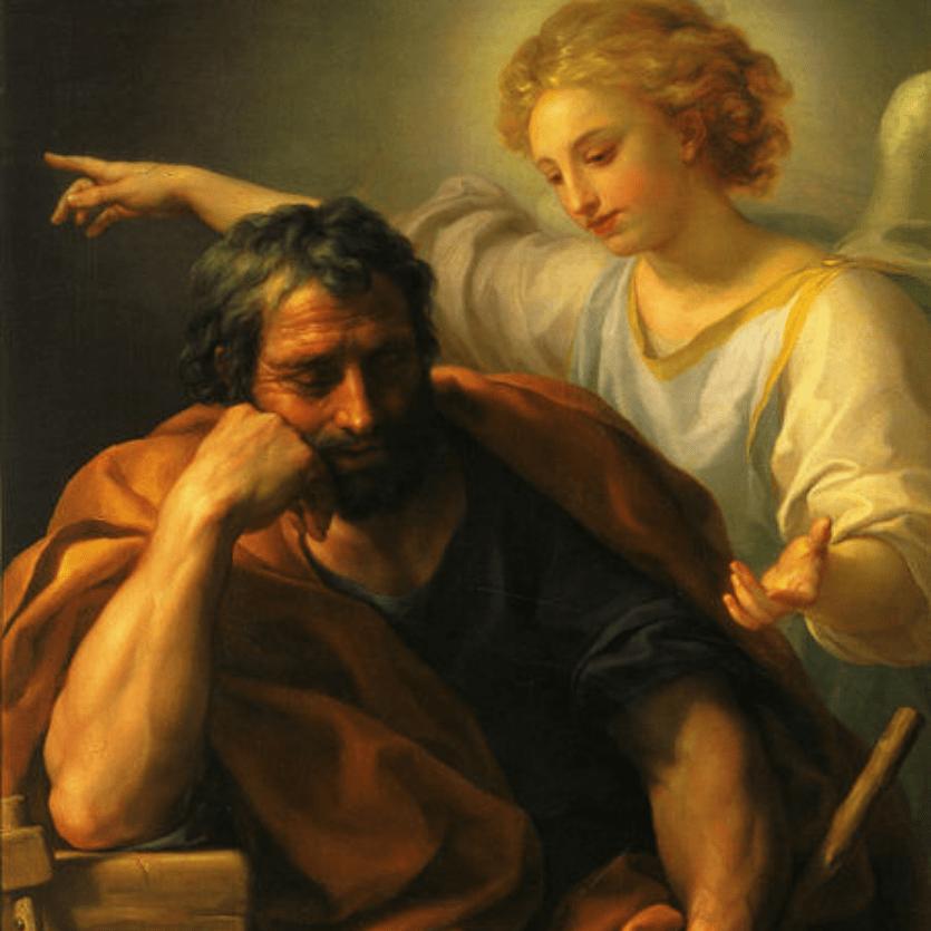 São José sonhando com o anjo