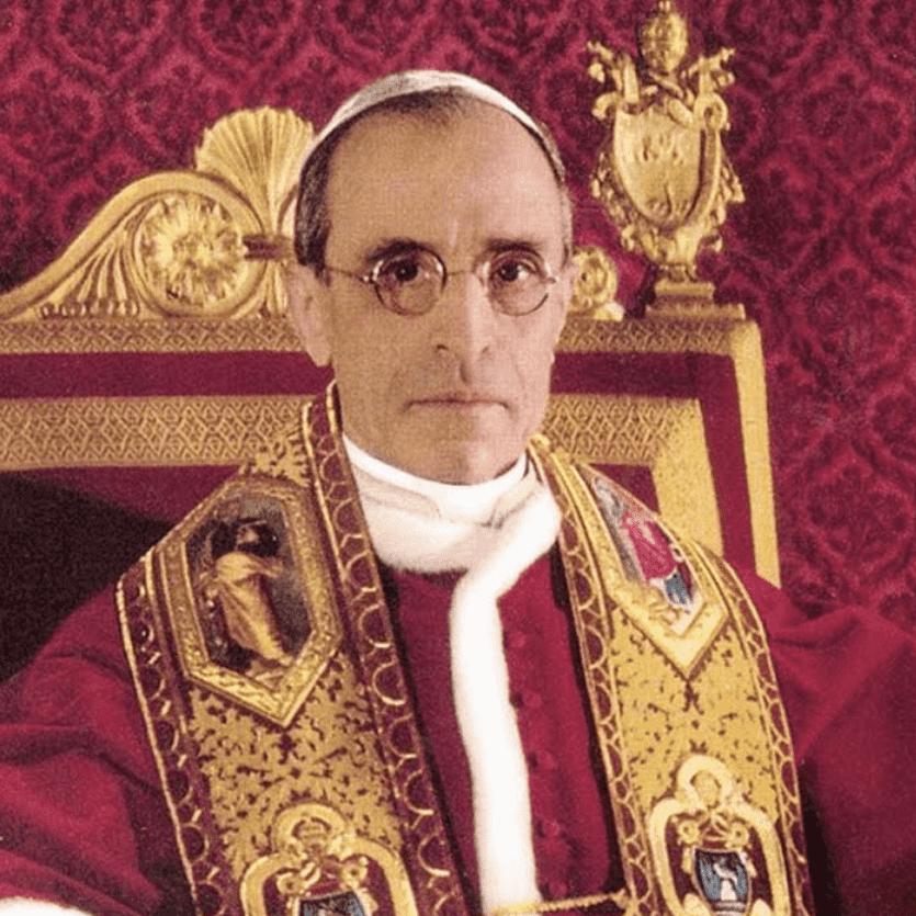 Foto oficial do Papa Pio XII
