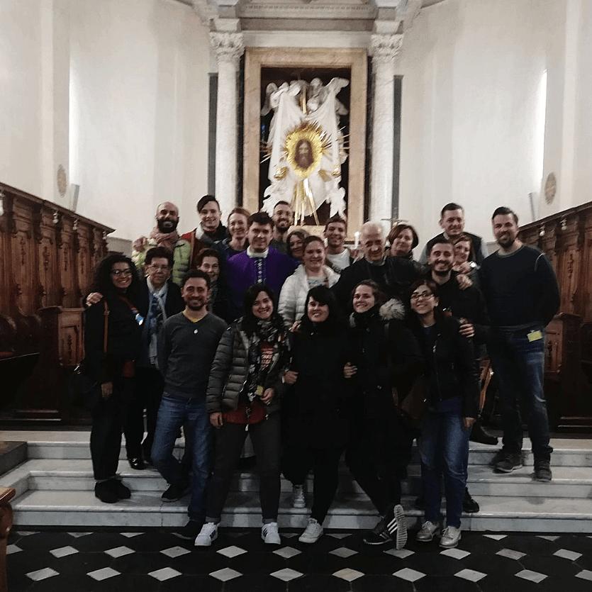 JOvens que participaram do TK em Roma