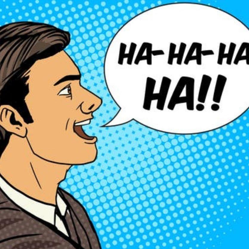 Ilustração de uma pessoa rindo