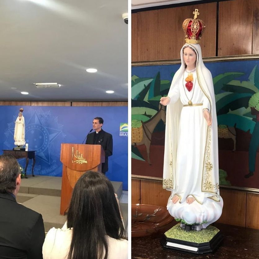 Imagens do Ato de consagração em Brasília
