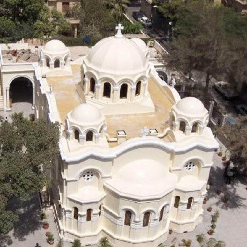 Vista da Igreja de São Marcos em Zeitoun
