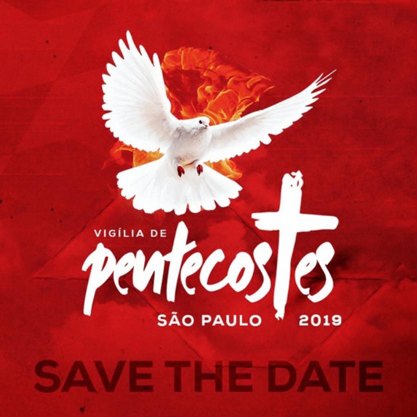 Banner da Vigília de Pentecostes na Arquidiocese de São Paulo