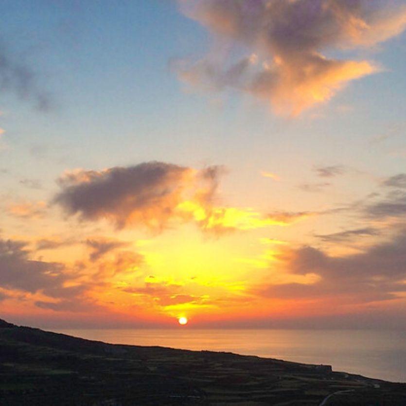 Imagem do pôr-do-sol-avermelhado
