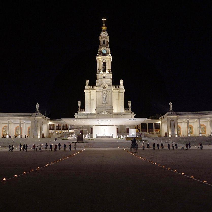 Vista panorâmica da Basílica de Fátima-Portugal