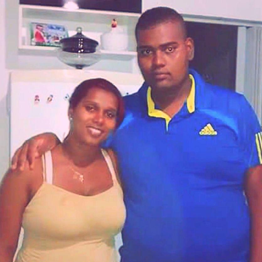Lusinete e seu filho Douglas